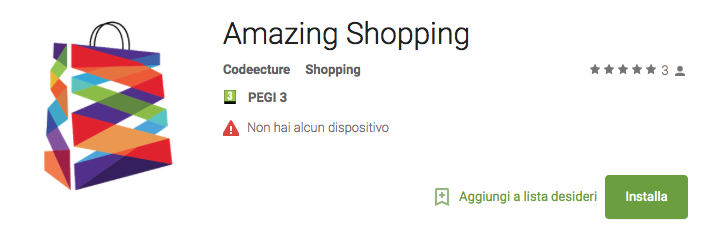 scarica l'App amazingshopping.it