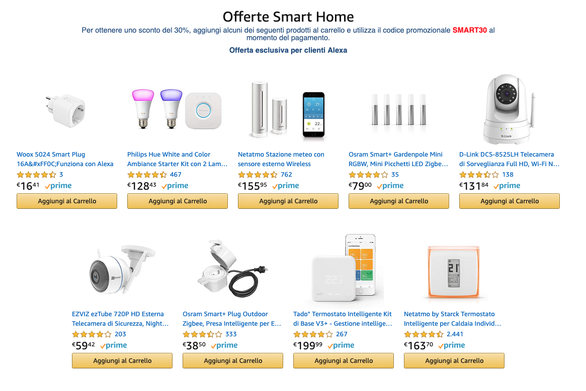 sconti amazon smart home
